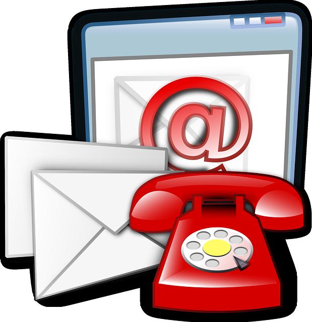 mail lettre téléphone moyens de communications